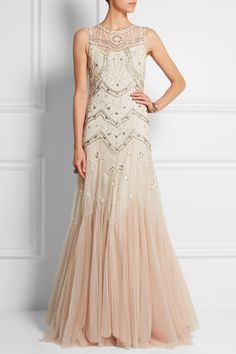 Needle & Thread | Embellished dégradé tulle gown | NET-A-PORTER.COM