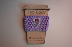 Crochet Cup Cozy, Digital Watch, Etsy Shop, Trending Outfits, Purple, Unique Jewelry, Handmade Gifts, Happy, Accessories