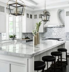 "42.7k Likes, 308 Comments - Interior Design & Home Decor (@inspire_me_home_decor) on Instagram: ""Shimmer shimmer backsplash from @artistic_tile has me drooling! 