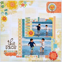 Write Snap Scrap - Love her use of strips for a photo mat!