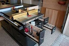 Sawstop and Router Cabinet / Infeed Table / Outfeed Table ...