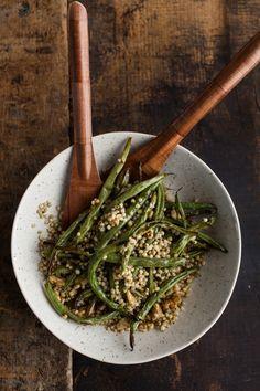 Naturally Ella   Garlic Green Beans with Sorghum and Walnuts