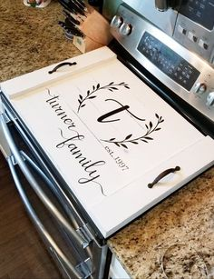 Noodle Board, Country Farmhouse Stove Cover, Wooden Stove Cover, Rustic Decor, D… - Home Professional Decoration Kitchen Tray, Home Decor Kitchen, Diy Home Decor, Kitchen Ideas, Diy Kitchen, Kitchen Cabinets, Kitchen Designs, Kitchen Storage, Kitchen Inspiration