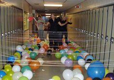 school-corridor-prank-practical-joke-funny-string-tied-to-lockers
