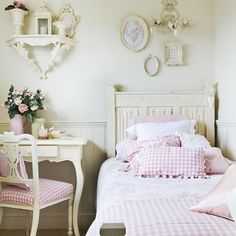 Above bed display is nice  Interior Design How To: Get that Shabby Chic Look - Lulus.com Fashion Blog