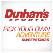 Like golf, skiing, sports fishing, MORE? Enter for your chance to win Dunham's Pick Your Own Adventure II Sweepstakes.