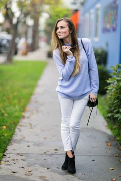New #OOTD Post: Periwinkle Dream! Don't miss this GORGEOUS sweater and is an absolute steal at only $17!!  #HelloGorgeous