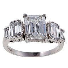 Diamond Platinum Engagement Ring 1
