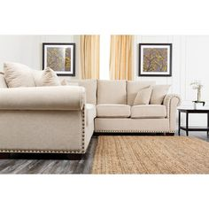 #DailyDeal Save On Abbyson Regina Fabric Sectional Sofa, Grey And More | Fabric  Sectional, Fabrics And Gray