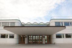 Terminal, Katrup, Copenhagen Airport, DK. Architect : Vilhelm Lauritzen Copenhagen, Denmark, Mansions, Architecture, House Styles, Outdoor Decor, Home Decor, Arquitetura, Decoration Home