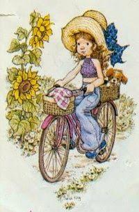 Creator of Sarah Kay: Vivien Kubbos Sarah Key, Holly Hobbie, Sara Key Imagenes, Colouring Pages, Coloring Books, Heart Illustration, Australian Artists, Illustrations, Vintage Postcards