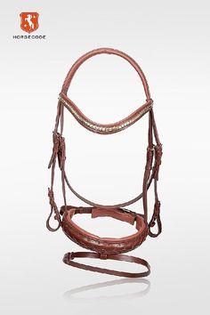 Horsecode Trense Brown Style WB,Braun,Warmblut,Trensenzaum,geschwungenes stirnba | eBay