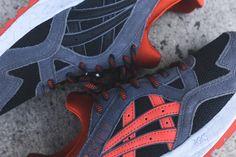 Asics Gel Lyte V - Black / Dark Grey / Orange Tiger Store, Asics Gel Lyte, Onitsuka Tiger, Huaraches, Nike Huarache, Dark Grey, Sneakers Nike, Orange, Collection