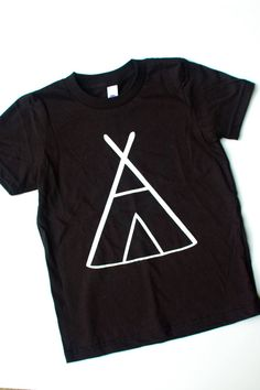 Kids Unisex TeePee Black Tee Tshirt - Boys or Girls Baby, Toddler Clothing, Photo Shoot Birthday Party Back To School on Etsy, £14.46