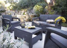 Table de jardin Orion ronde naturel 8 personnes prix Table de ...