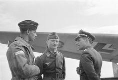 German pilots in Malmi, Helsinki on 25 June, 1941.
