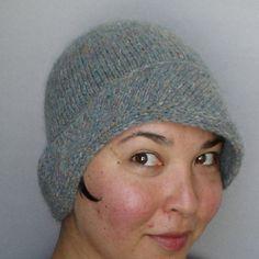 Tillie cloche hat knitting pattern by MK Carroll