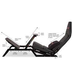 You no longer need a dedicated cockpit for racing. The will put you in the driver's seat with the exact Formula style seating position and can easily switch to a GT driving position for all your other sim-racing. Racing Seats, Car Seats, Racing Wheel, Sims, Racing Simulator, Gaming Room Setup, Game Room Design, Secret Rooms, Diy Games