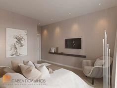 Фото: Дизайн спальни - Интерьер однокомнатной квартиры в современном стиле