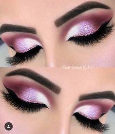 "The talented wearing ""ALINA"" lashes created by me in collaboration with Have ., Makeup Tutorials by Alinna Pink Eye Makeup, Glitter Eye Makeup, Glam Makeup, Makeup Inspo, Eyeshadow Makeup, Makeup Cosmetics, Makeup Inspiration, Makeup Tips, Beauty Makeup"