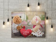 I love you canvas wall decor canvas ready to hang on the wall picture beautiful home decor wall art valentines day canvas picture by funkytshirtsfactory on Etsy Canvas Wall Decor, Home Decor Wall Art, Canvas Home, Love You, My Love, Canvas Pictures, Picture Wall, Beautiful Homes, Valentines Day