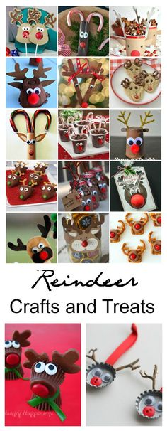 Reindeer Crafts and Treats | Sharing a great collection of Reindeer Treats and Craft ideas for you to make with the kids this Christmas and Holiday Season.