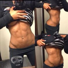 This looks disgusting in my opinion. Women were meant to have curves. Not look like male body builders.