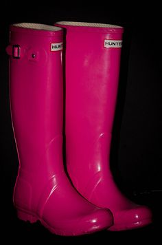 Wellington's Hunter Pink Boots