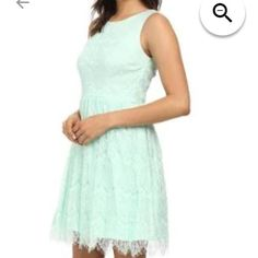 ab6d3a18126721 NWTMint Jessica Simpson Dress NWT! Beautiful Jessica Simpson Fit and Flare  dress! Lace overlay