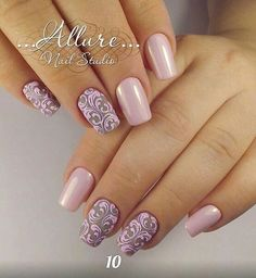 Having short nails is extremely practical. The problem is so many nail art and manicure designs that you'll find online Fabulous Nails, Gorgeous Nails, Pretty Nails, Nail Art Arabesque, Crome Nails, Nagellack Trends, French Tip Nails, Elegant Nails, Gel Nail Designs