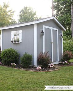 Backyard Shed --he wouldn't want the decorations--but need for riding mower!