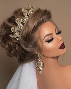 Die 10 besten hellen Frisuren (in der Welt) - Wedding Makeup For Fair Skin Easy Hairstyles For Medium Hair, Medium Hair Styles, Short Hair Styles, Natural Hair Styles, Wedding Hair And Makeup, Bridal Makeup, Bridal Hair, Hair Makeup, Makeup Hairstyle