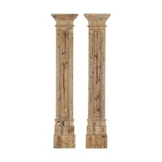 Paragon Natural Wood Rustic Columns Wall Sculpture, Set of Two ($302) ❤ liked on Polyvore featuring home, home decor, wood wall sculpture, rustic home decor, wooden home decor, wood home decor и wooden wall sculpture