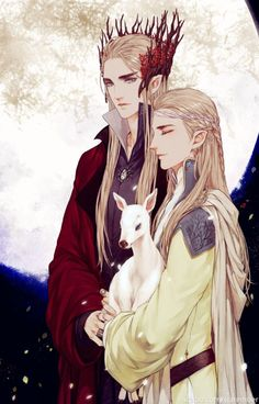 Thranduil and Legolas by STARember  in sigun-i-loki