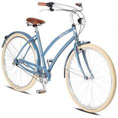 Rower Miejski Damski Cruiser Johnny Loco Niebieski. Kolor tego roweru dodaje mu delikatności i powiewu świeżości. http://damelo.pl/damskie-rowery-miejskie-cruiser/428-rower-miejski-damski-cruiser-johnny-loco-niebieski.html