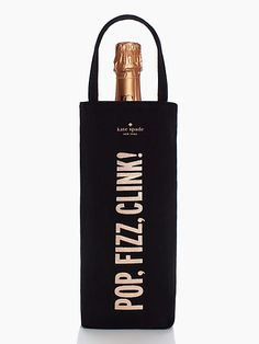 Pop, fizz, clink- such a cute gift. Maybe with a bottle of champs for my cousins wedding.