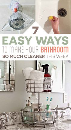 7 bathroom cleaning tips you ll actually want to try 7 of the best home cleaning hacks you ll ever try Bathroom Cleaning Hacks, House Cleaning Tips, Spring Cleaning, Clean Bathroom Grout, Cleaning Caddy, Bathroom Mold, Bathrooms, Grout Cleaning, Granite Bathroom
