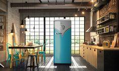 Холодильник в стиле культового минивэна http://www.admagazine.ru/mebel/96840_kholodilnik-v-stile-minivena.php  Форма и расцветка нового холодильника Gorenje напоминают хиппи-автомобиль из 1960-х.