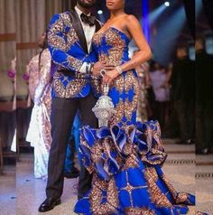 african couple dashiki prom dress,african ankara wedding dress for couple,African couple wedding outfit,african clothing for women African Prom Dresses, African Wedding Dress, African Dress, Wedding Dresses, African Outfits, African Weddings, African Clothes, Modest Wedding, Gold Wedding