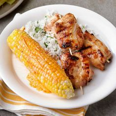 Chicken Churrascada with Grilled Corn and Paprika Butter: These skewers are made even better with zesty spices!
