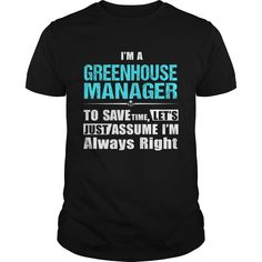 (Tshirt Perfect Choose) GREENHOUSE-MANAGER Discount 5% Hoodies, Tee Shirts