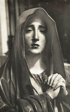 Virgen de los Dolores    A baroque sculpture of Our Lady of Sorrows in Valladolid, Spain.