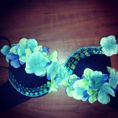 Items similar to Plurfinity Floral Rave Bra on Etsy Rave Festival, Festival Wear, Festival Outfits, Festival Fashion, Edm Outfits, Pin Up Outfits, Rave Gear, Rave Makeup, Rave Costumes