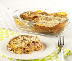 Lasagne met witte selder en tomatensaus