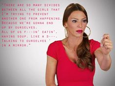 """""""There are so many divides between all the girls that I'm trying to prevent another one from happening. Because we're gonna end up by ourselves. All of us f---in' eatin', having soup. Like a d---. Talking to ourselves in a mirror."""" -Drita D'avanzo #MobWives"""