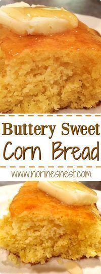 This Warm Buttery Sweet Corn Bread is so moist, easy, and delicious. It's perfect with soups, salads or BBQ! It the best homemade corn bread! Baking Recipes, Snack Recipes, Paleo Recipes, Snacks, Corn Recipes, Oats Recipes, Simple Recipes, Pudding Recipes, Coconut Dessert