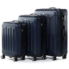 Suitcases 3 Pcs Luggage Set Trolley Travel Storage Combination Lock Hard Wheels #FERG