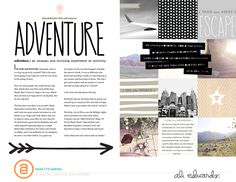 Go Digital Story Kit™ - by Annette Haring - text story on left, collection of images on right Scrapbook Sketches, Scrapbook Page Layouts, Scrapbook Pages, Vacation Scrapbook, School Scrapbook, Magazine Design, Word Adventure, Digital Story, Project Life Layouts