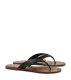 The epitome of carefree elegance, our Thora Thong Sandal features impeccable…