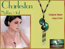 Bliensen + MaiTai - Charleston - Art Deco Necklace - Teal
